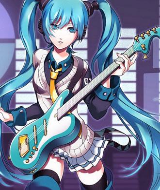 电吉他美少女动漫桌面壁纸