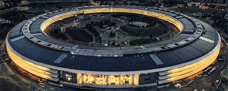 苹果新总部曝光 PK腾讯、阿里巴巴总部
